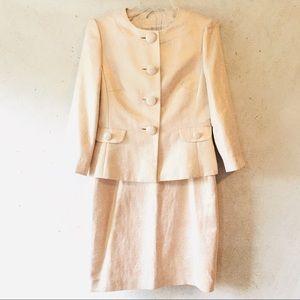 Tahari Arthur S. Levine Metallic Skirt Suit Sz 6